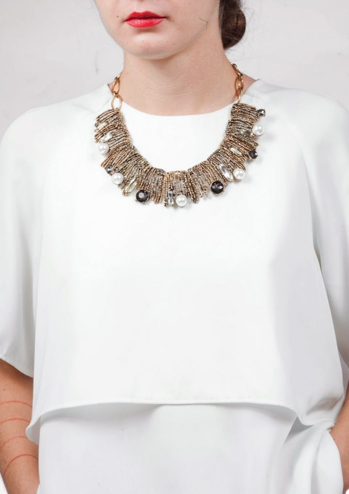 Fireworks Vintage Gold Statement Necklace 29,90 € #happinessbtq