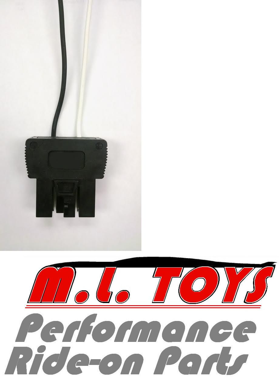 Details about power wheels male 12v battery connector