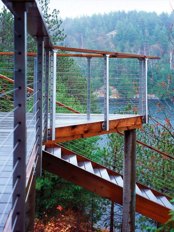 outdoor stairs to dock with handrails Google Search