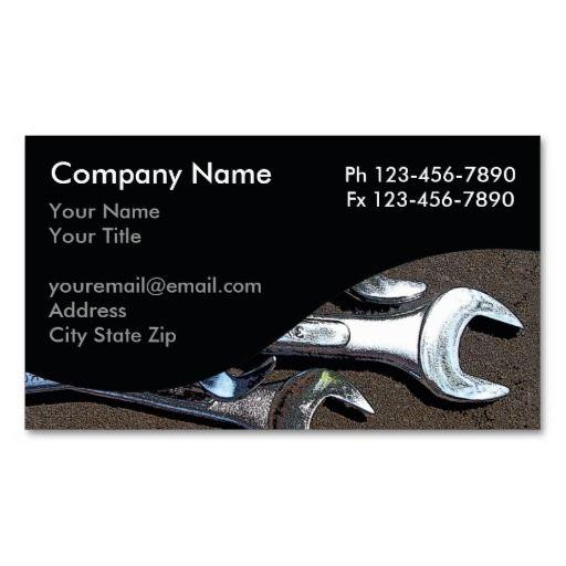 Mechanic Business Cards Automotive Business Cards Business Cards
