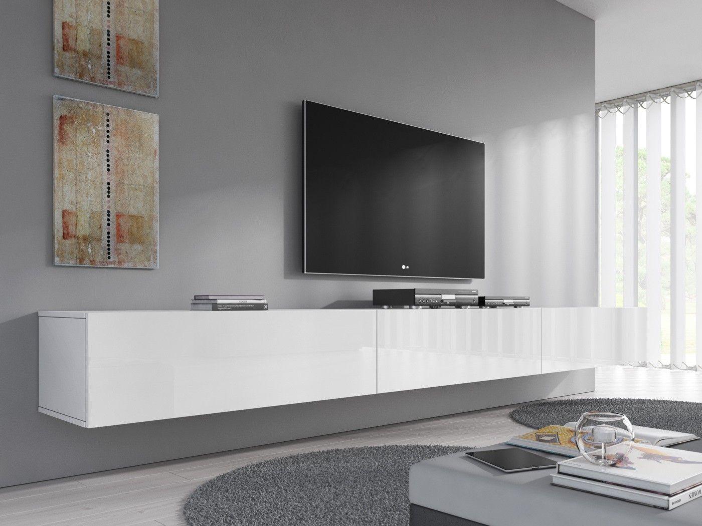 TVMeubel Flame  Wit  300 cm  Kasten  Tv meubels