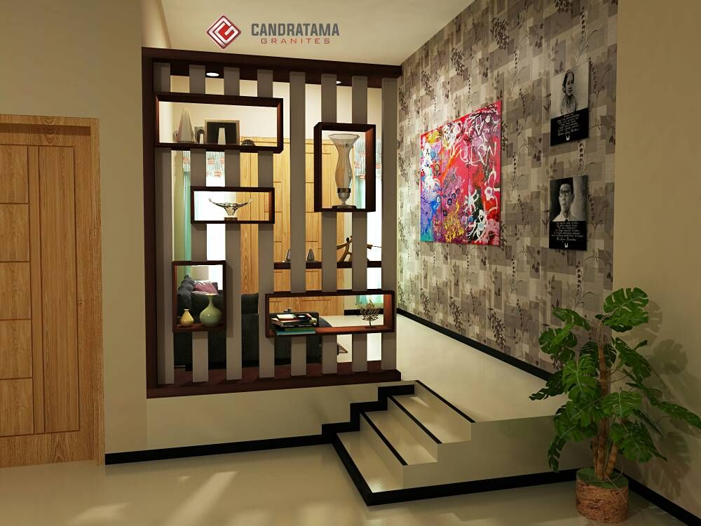 Living Room And Kitchen Divider Design Inspiration Gray Couch Dapur Dan Ruang Tamu   Desainrumahid.com