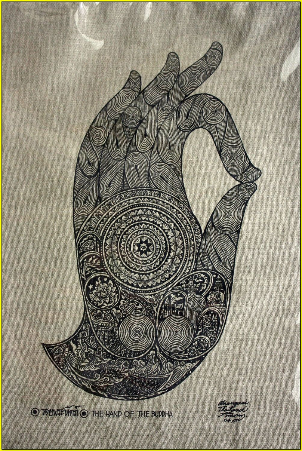 Thai traditional art of The Hand Of The Buddha by ...