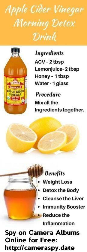 Apple Cider Vinegar Morning Detox Drink | Dream Lifestyle #AppleDetoxDiet