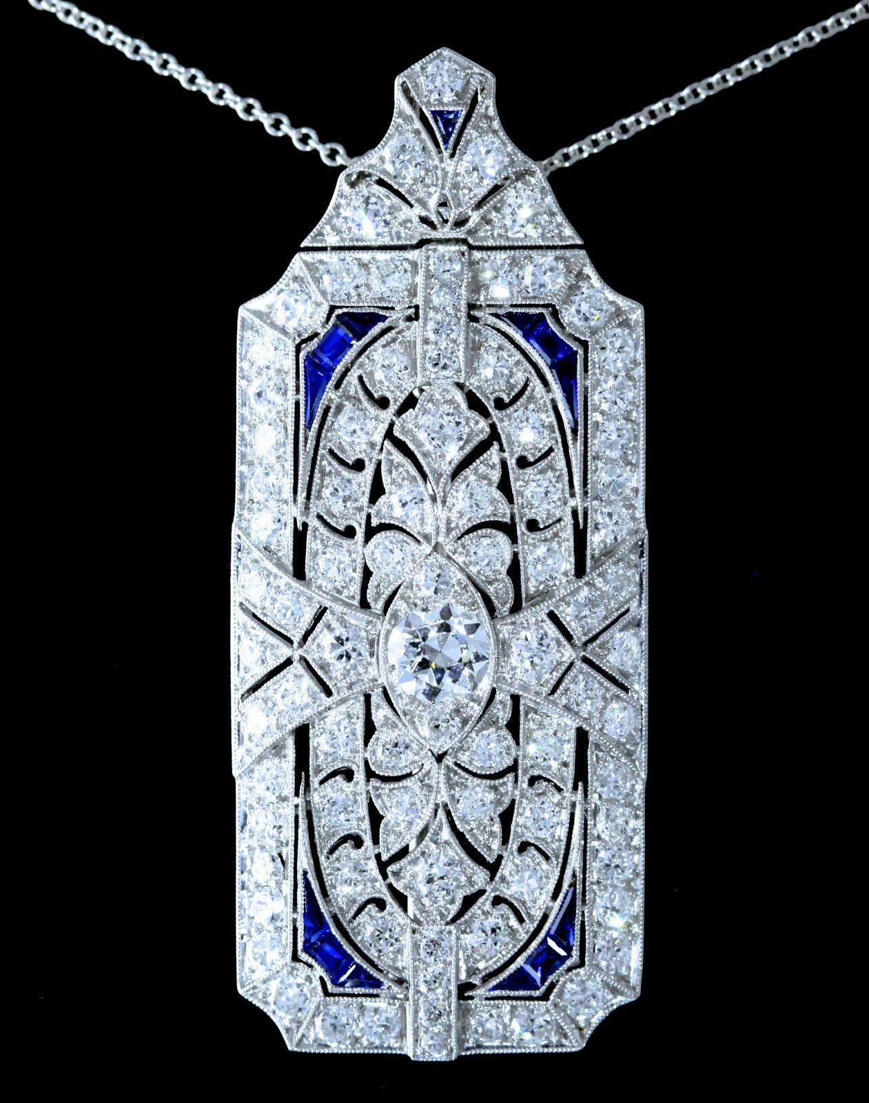 Black starr frost ctw art deco flawless european diamond