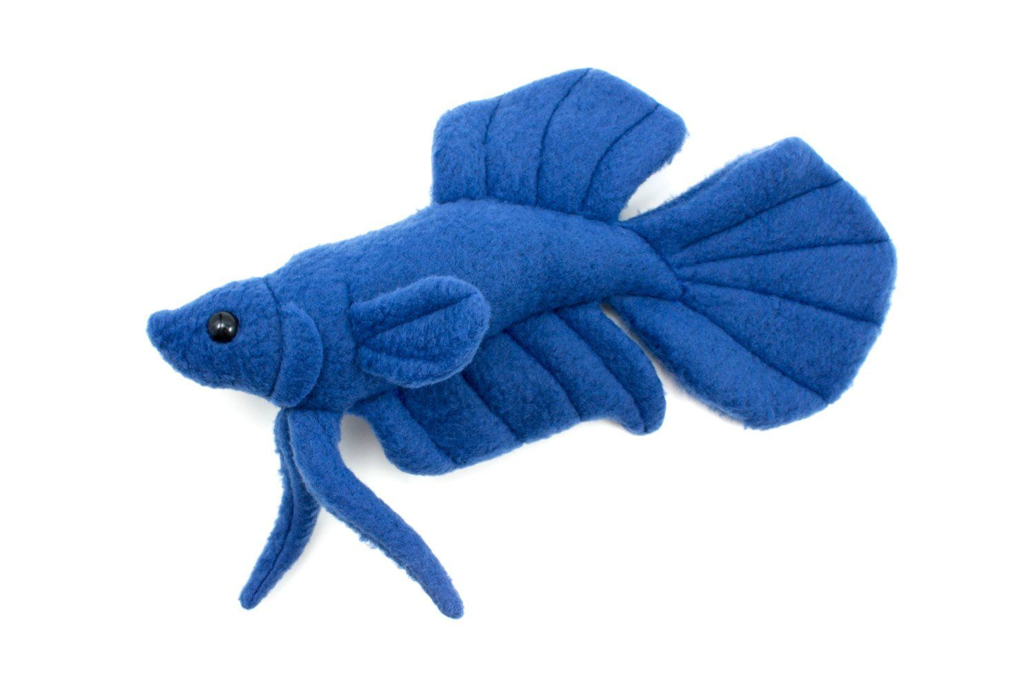 Royal Blue Betta Fish Stuffed Animal Plush Toy Plakat Tail Type