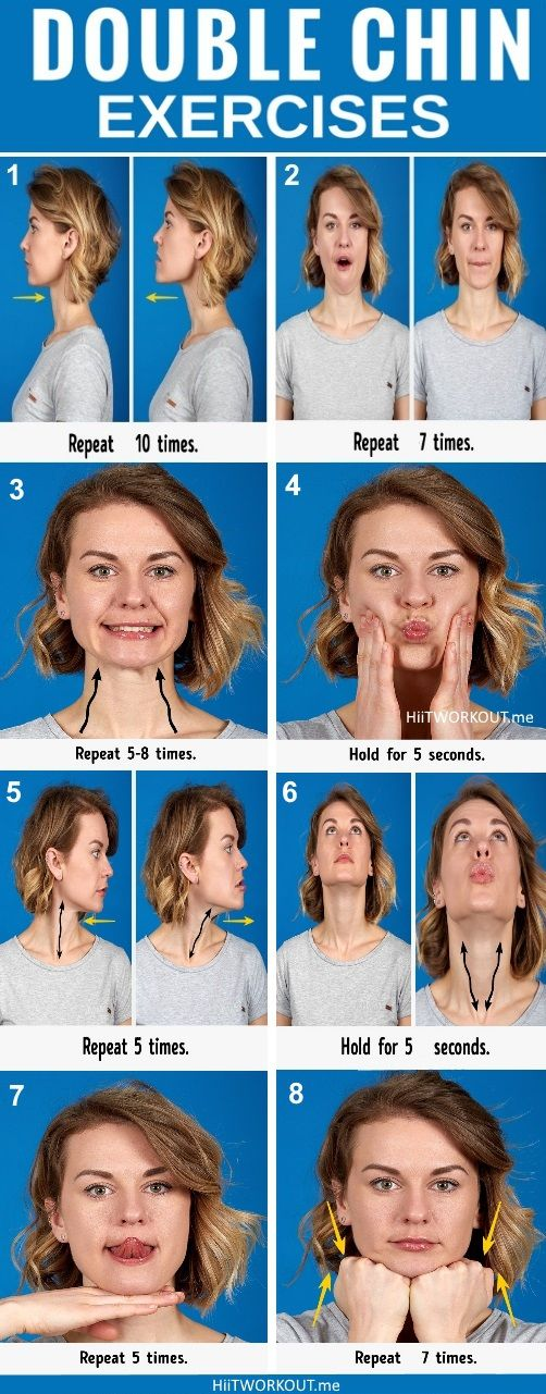 7 Effective exercises to say Goodbye to your Double Chin #fitness
