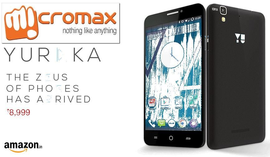 Micromax yureka rs 8999 amazon next sale coming