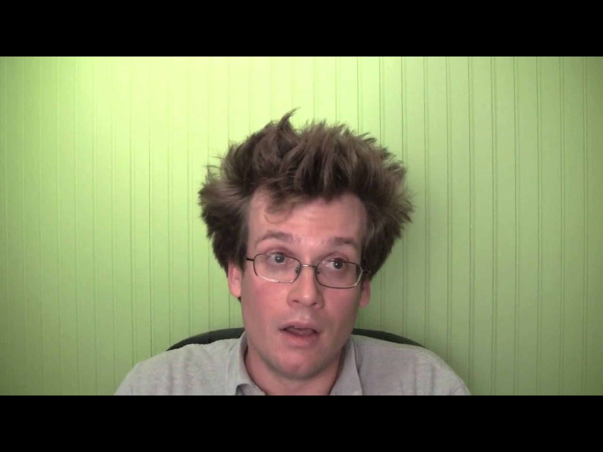 John Green's stressed out! LOOK AT THE PUFF LEVEL!!!