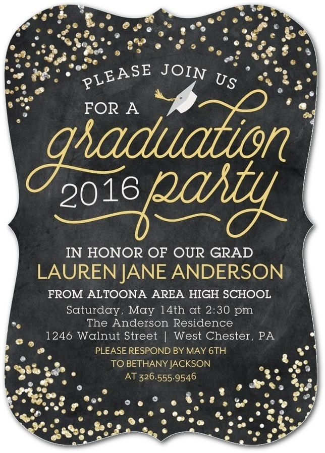 honor all their achievements with a sparkling graduation party