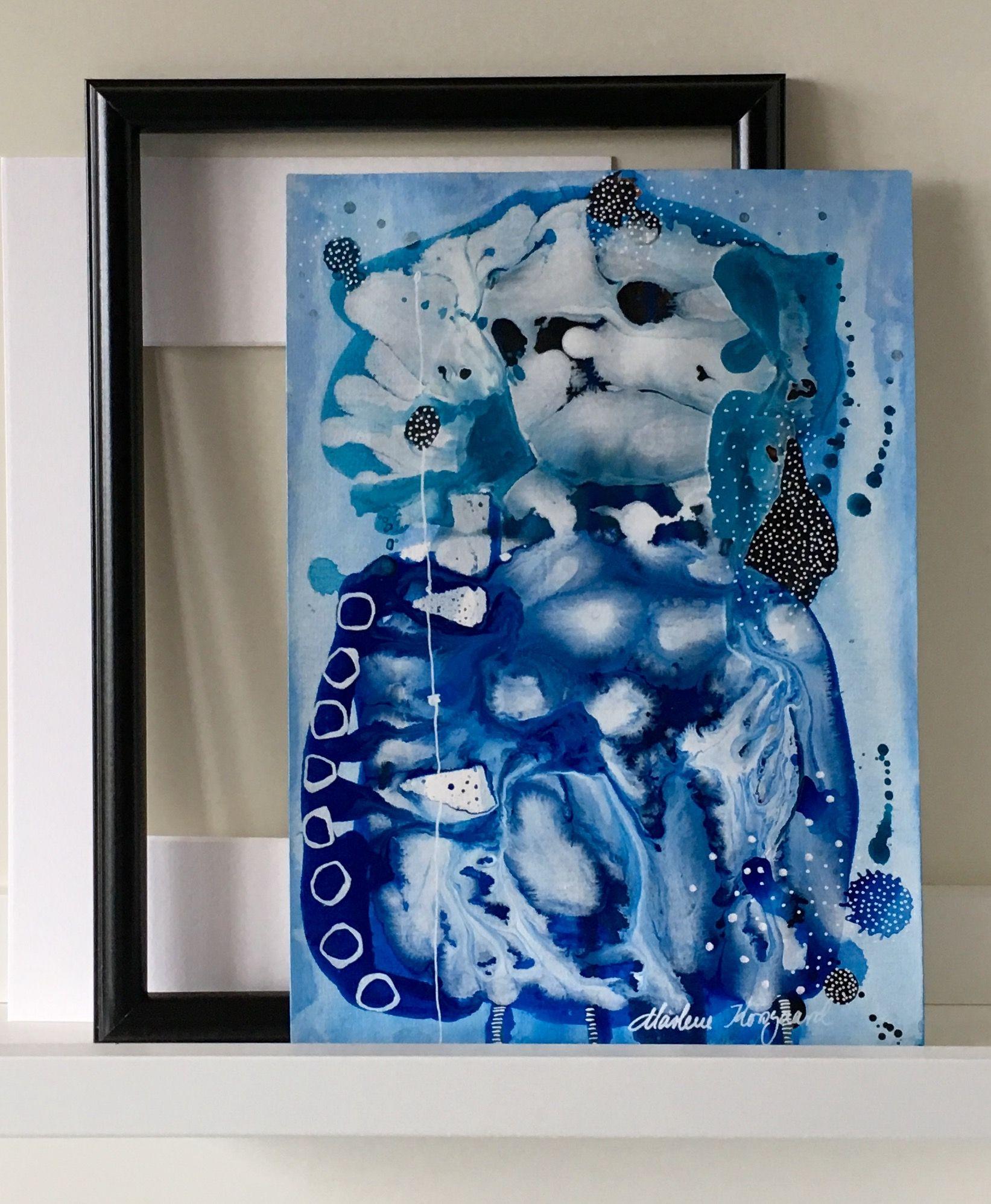 Papir Maleri A4 Indrammes Efter Din Smag Www Gallerimarlene Com Abstract Abstract Art Art