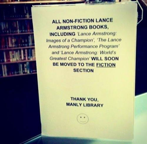 een Australische bibliotheek heeft de boeken van Lance een nieuwe plek gegeven *