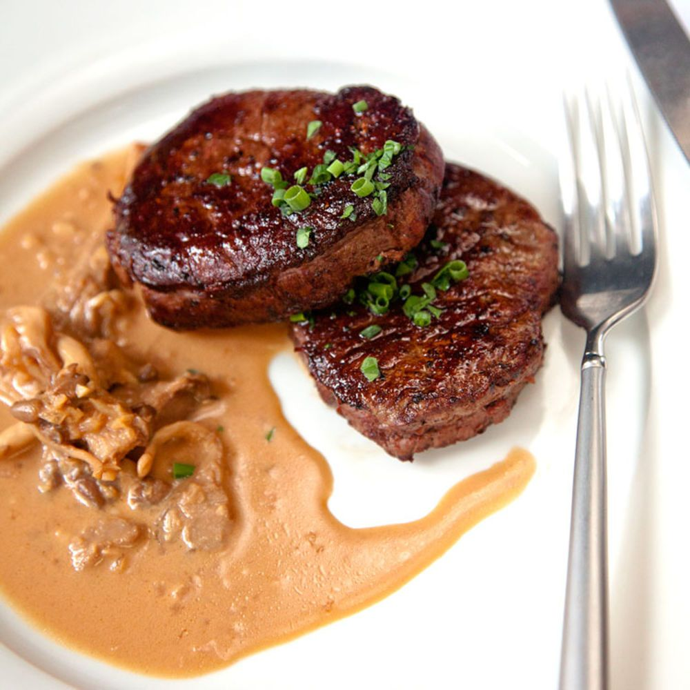 Steak diane comida for Platillos franceses faciles