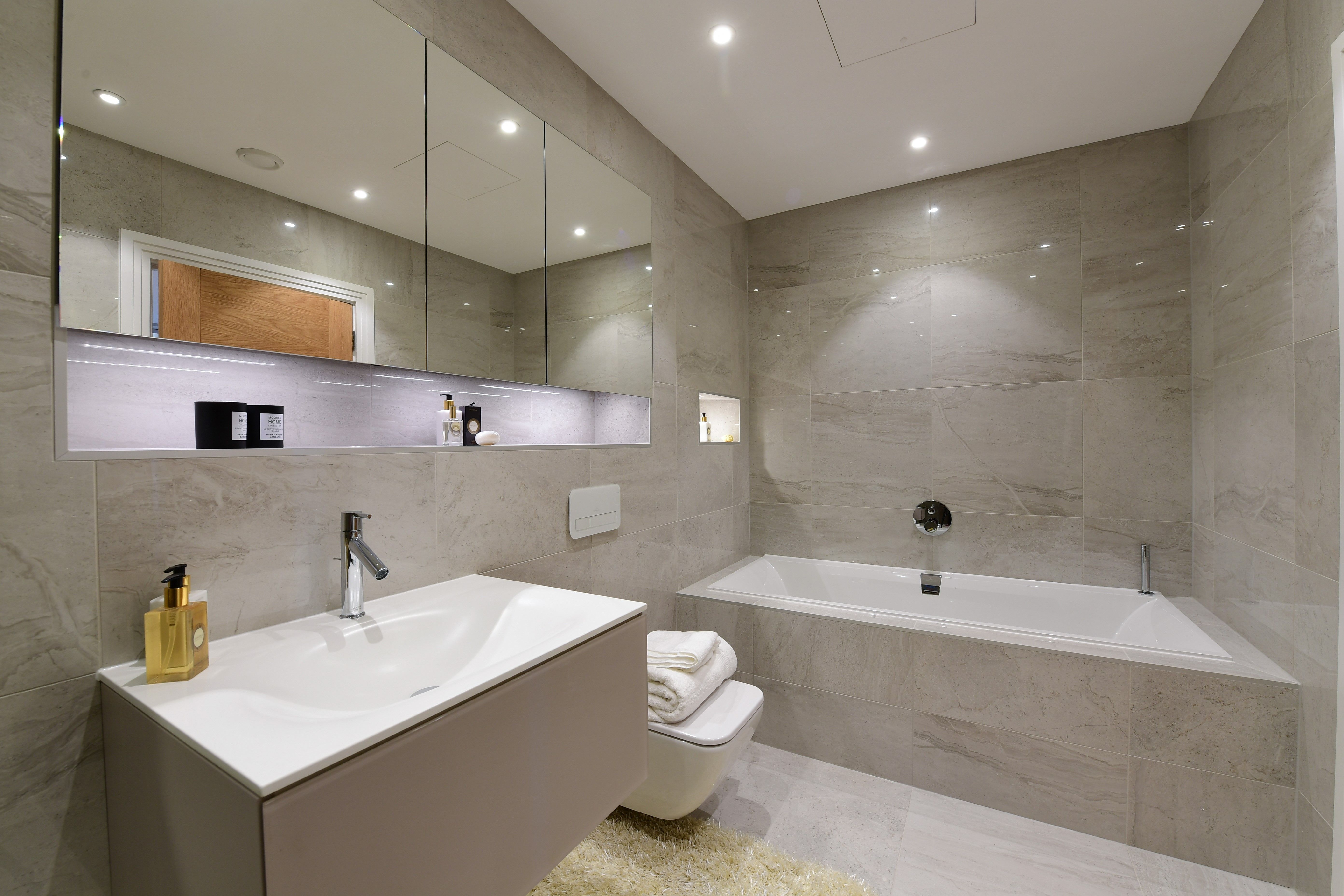 Silver Dreams Splash Across Walls And Floors Of This Luxurious