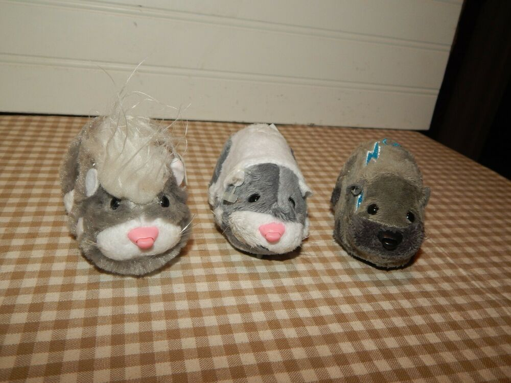 Zhu Zhu Pets Lot Of 3 Hamster Interactive Sounds Toys Tested Works Guc Cepia With Images Hamster Zhu Zhu Pets