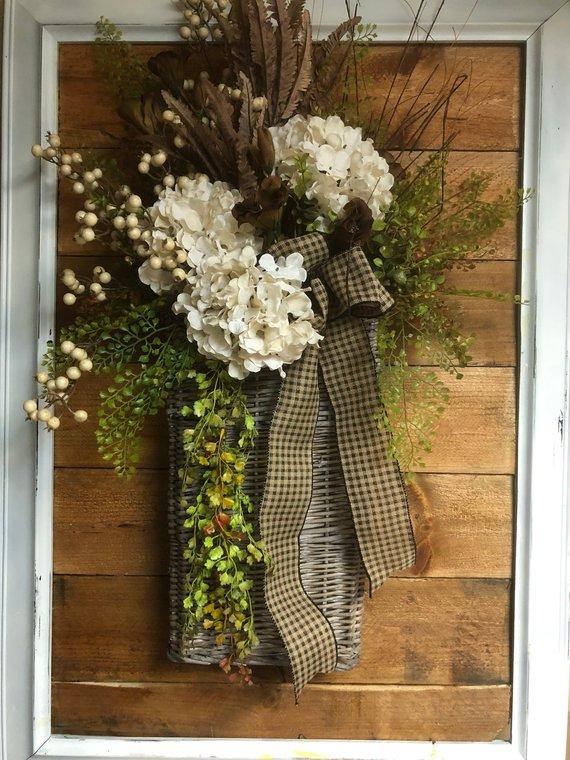 Fall Door Basket Winter Door Decorations Fall Hanging Baskets