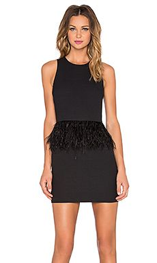 28a8d03e85e2a Shop for Endless Rose Feather Mini Dress in Black at REVOLVE. Free 2 ...