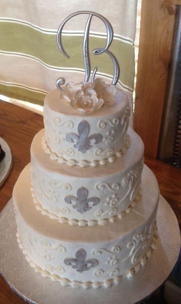 Fleur De Lis Wedding Cake And Then There Was A Wedding Wedding