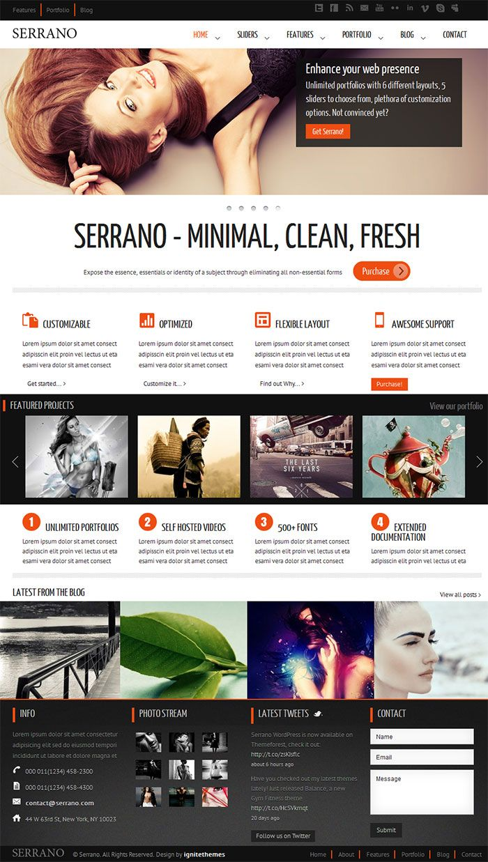 Clean and highly customizable premium corporate WP