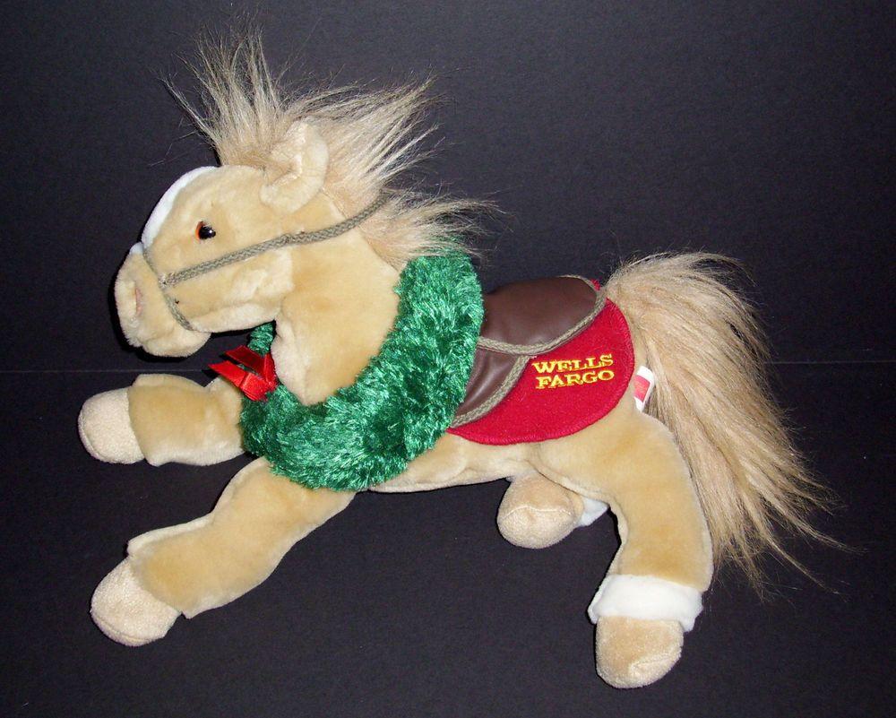 wells fargo bank buck plush pony horse christmas wreath legendary