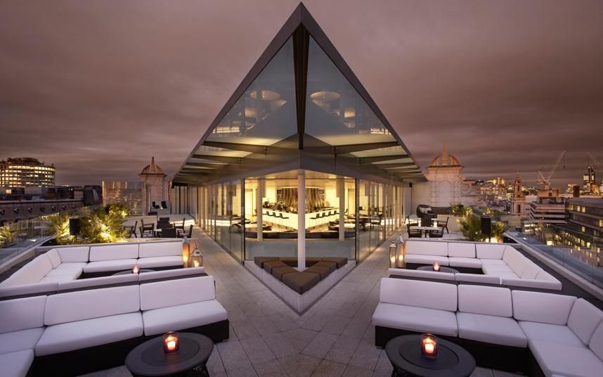 22 amazing rooftop bars in london days out london - Outdoor swimming pool covent garden ...