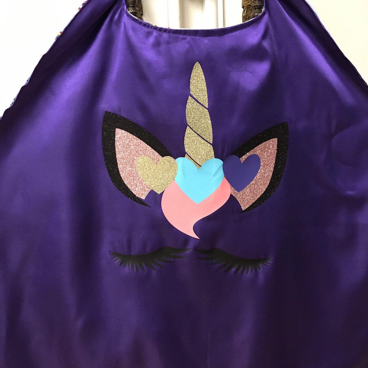 unicorn cape/ personalized unicorn cape/ superhero cape