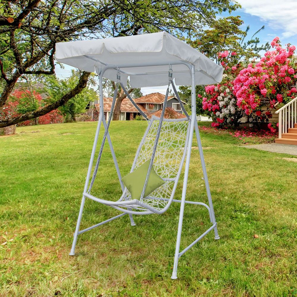 Patio Swing Chair Garden Sun Lounger Outdoor Hanging Seat Awning Hammock  Canopy