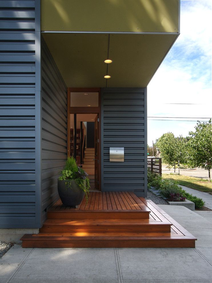 Bright Corrugated Metal Siding vogue Seattle Modern Entry Remodeling ideas  with accessory dwelling. Bright Corrugated Metal Siding vogue Seattle Modern Entry