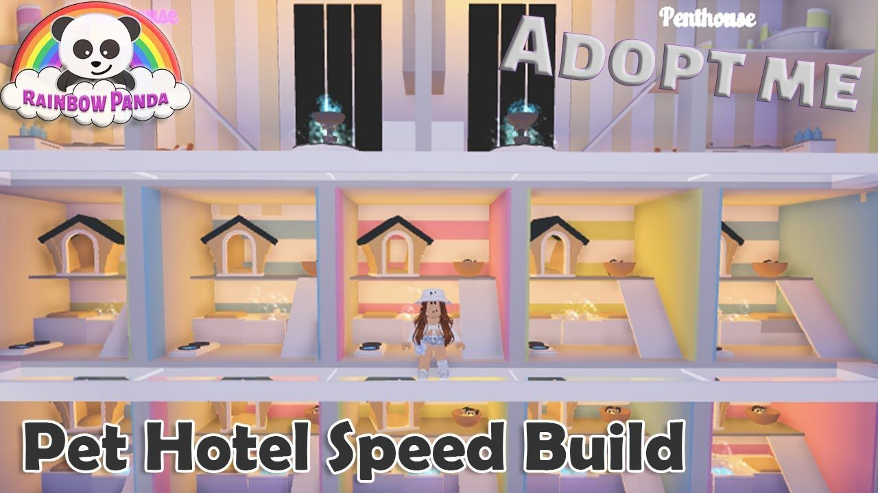 Adopt Me Speed Build Pet Hotel Pet Room Youtube Animal Room Pet Hotel House Decorating Ideas Apartments
