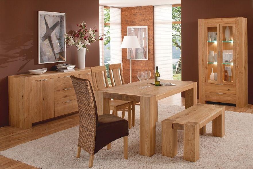 BRUNO Massivholz Esstisch Wildeiche 180x90 Cm #esszimmer #massivholz