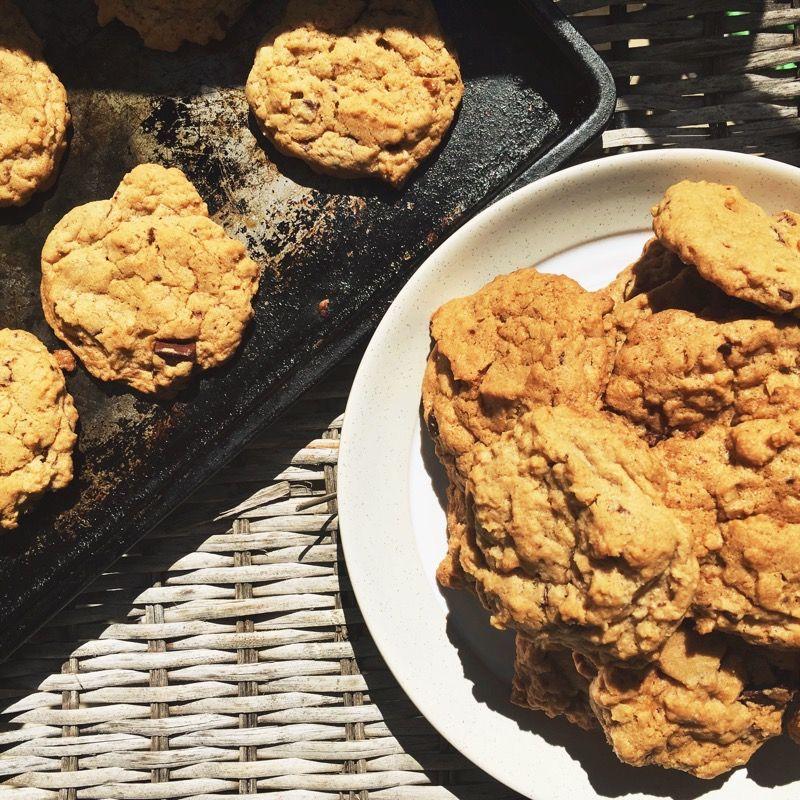 Les biscuits véganes aux pépites de chocolat d'Emcie