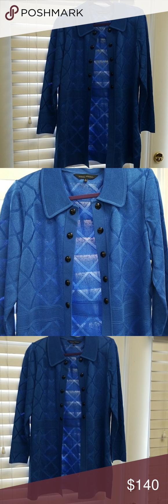 Ming Wang cardigan NWT | Long cardigan and Royal blue