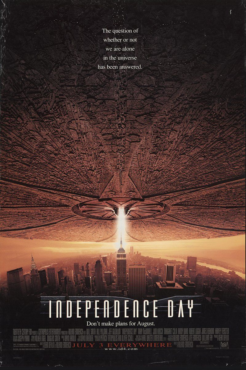"""Independence Day 1996 Authentic 27"""" x 41"""" Original Movie ..."""
