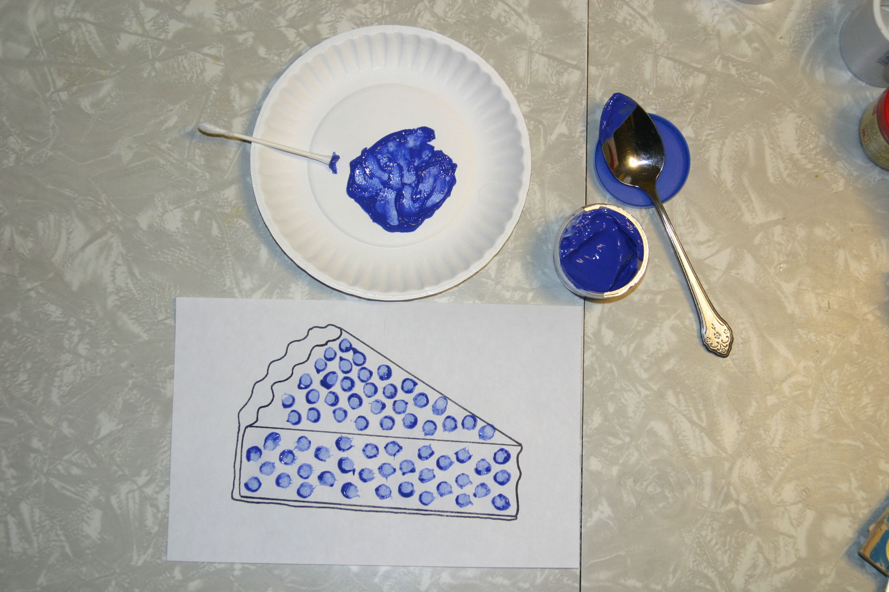Blueberry Pie Craft With Q Tip