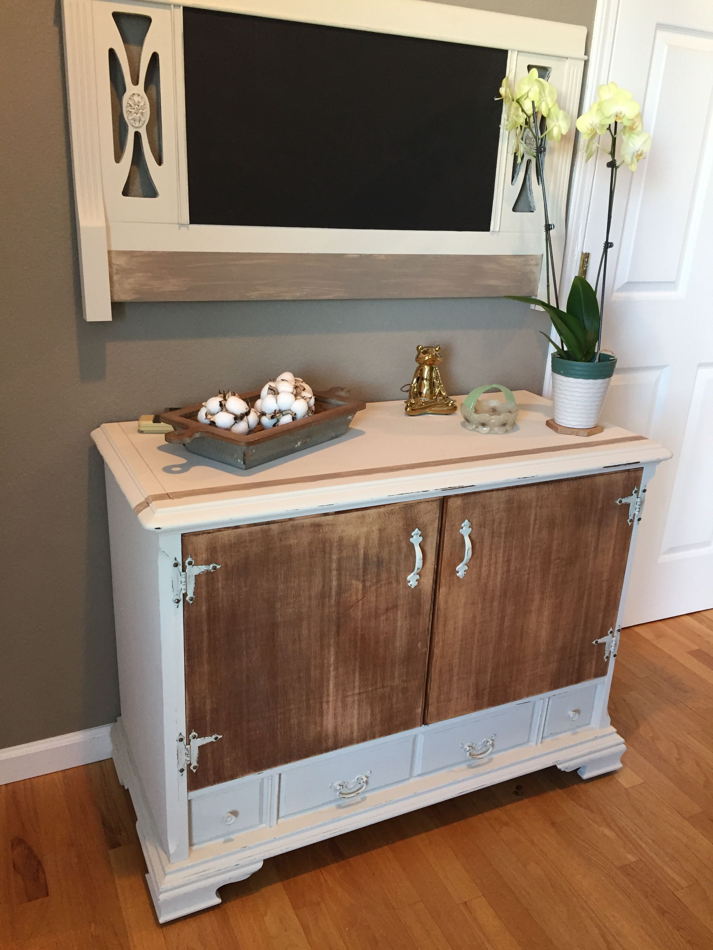 Rustic Decorold Console Tv Cabinet Now Has Two Shelves Inside