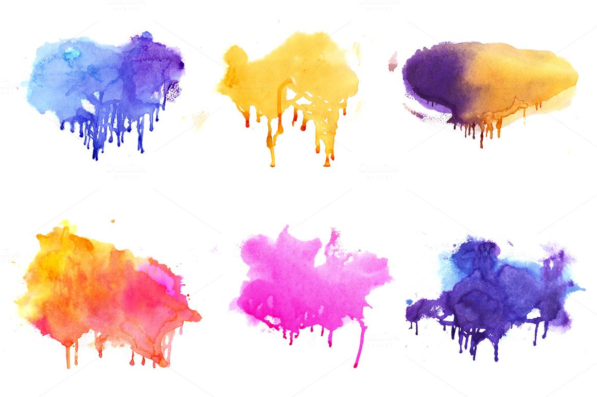Watercolor Set Watercolor Design Backgrounds Watercolor Texture