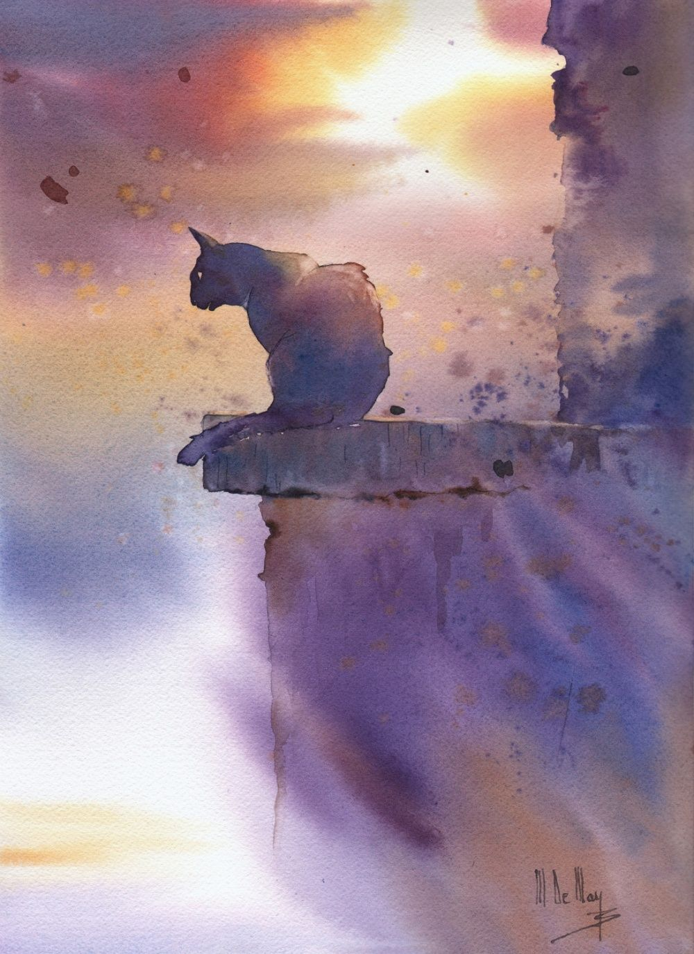 Galerie D Aquarelles Maryse De May Animaux D Aquarelle