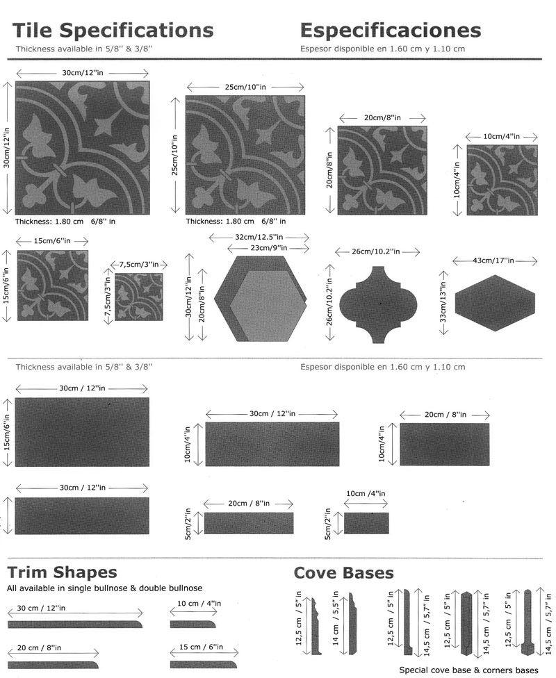 Cement Tile Shapes And Sizes Cement Tile Shapes Cement