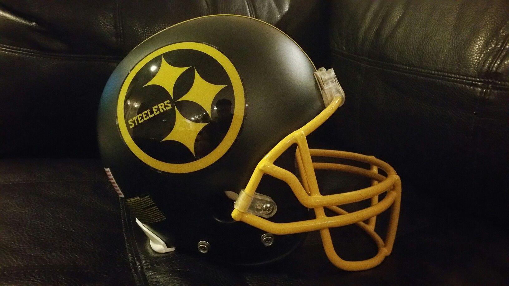 newest collection 8b086 31b3a Blackout Steelers helmet | Custom Football Helmets ...