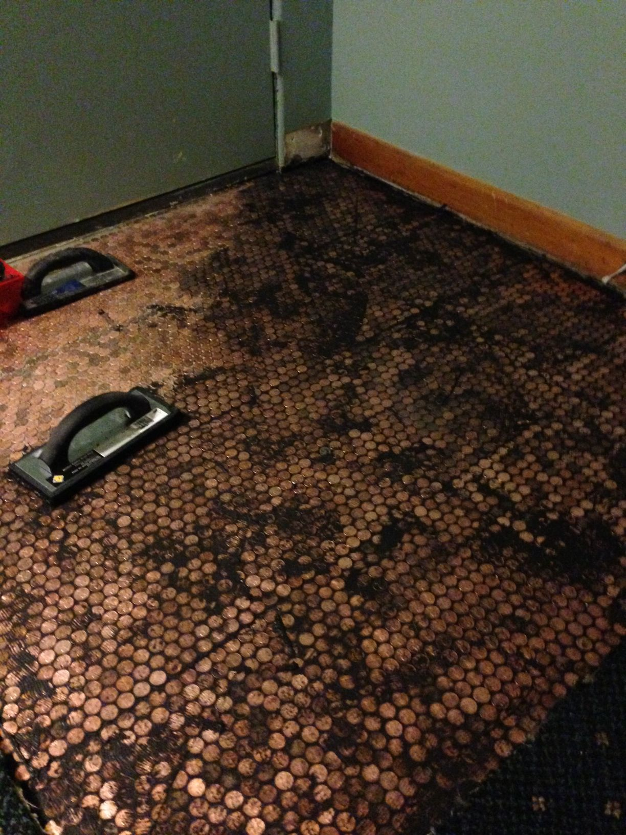 Copper Penny Floor Installation Pennyfloor Flooring Ideas