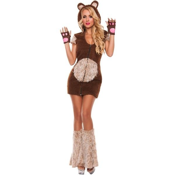 Womens Cuddle Me Bear Costume ($45) ? liked on Polyvore featuring costumes halloween  sc 1 st  Pinterest & Womens Cuddle Me Bear Costume ($45) ? liked on Polyvore featuring ...