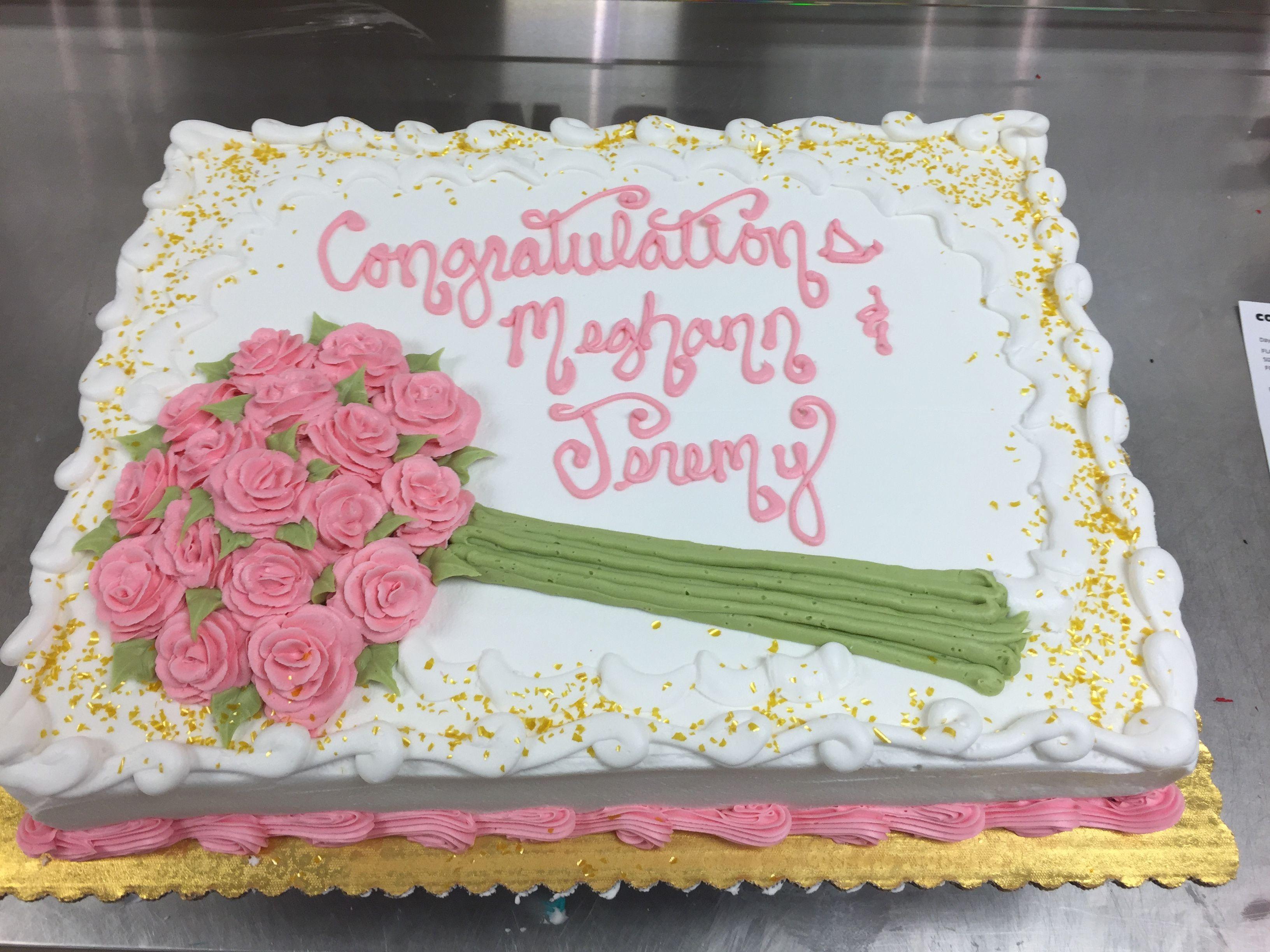 Bridal Shower Sheet Cake Cakes In 2019 Wedding