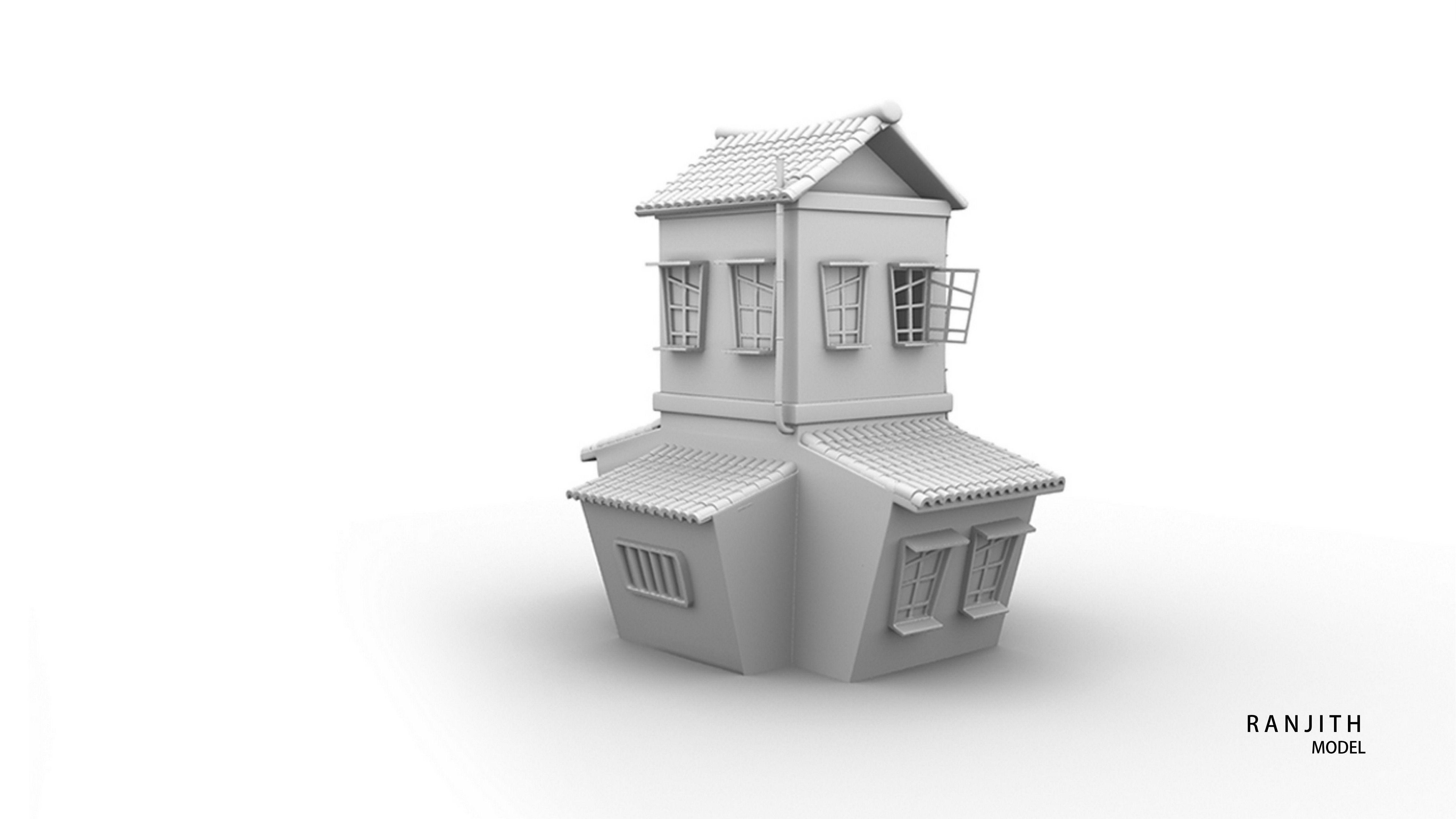 Image associée Cartoon house House 3d model 3d model