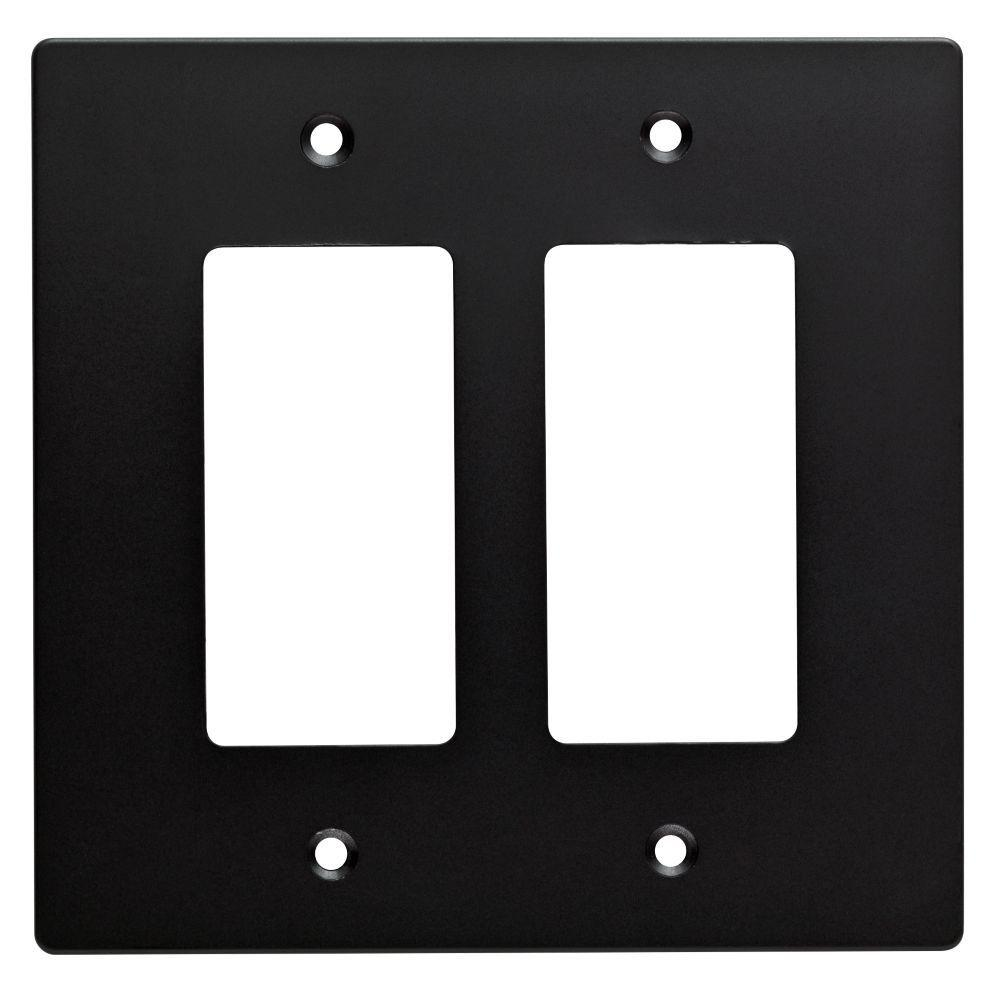 Hampton Bay Subway Tile Decorative Double Rocker Switch Plate Flat Black W32738 Fb C The Home Depot Plates On Wall Hampton Bay Rocker