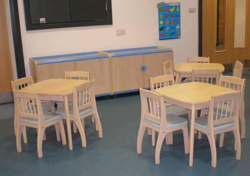 Attractive Nursery Snack Area With Trudy Furniture From British Thornton
