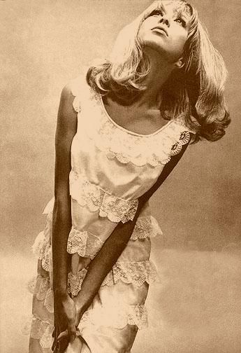 Patty Boyd. Former wife of George Harrison and Eric Clapton. 1960's Vogue Model