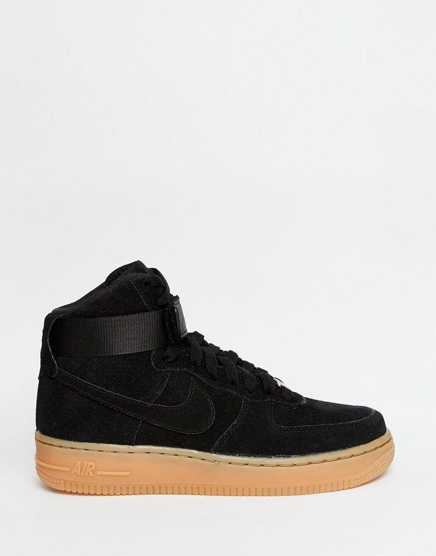77270c7c86d19 Image 2 - Nike - Air Force 1 07 - Baskets en daim - Noir Nike