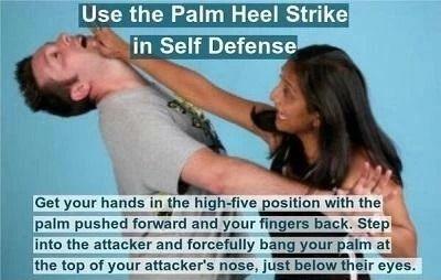 Palm heel strike