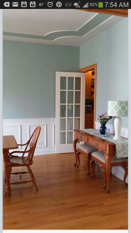 Dining Room Makover Wainscoting Behr Marquee Color Gray Wool