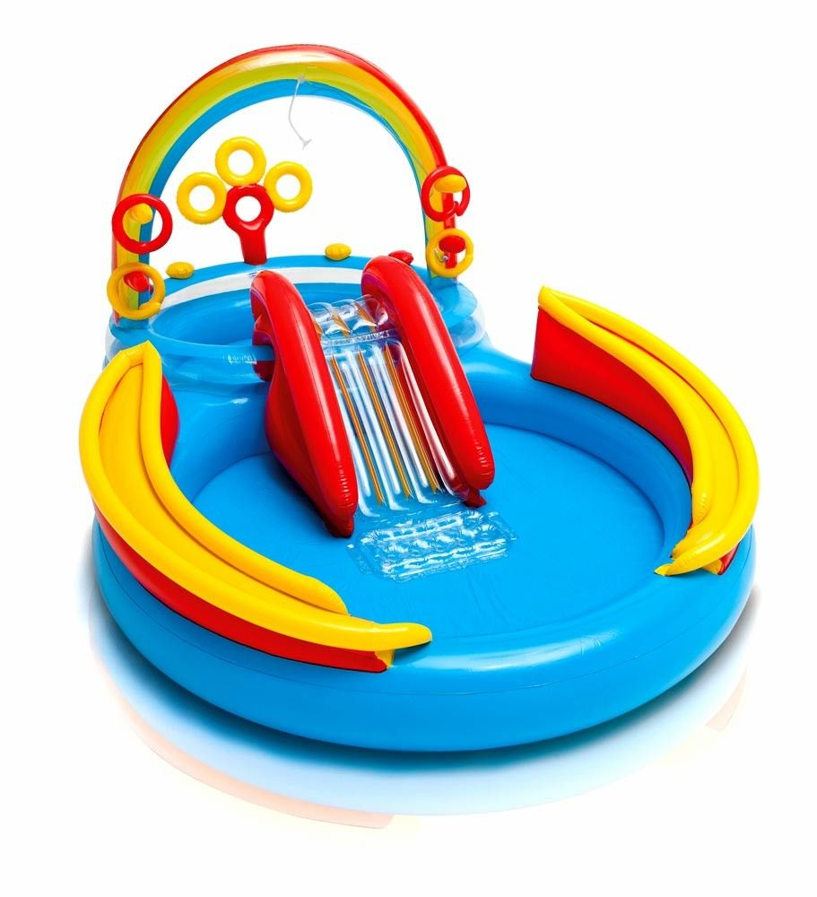 Piscina Gonfiabile Bambini Intex 57453 Arcobaleno Rainbow Ring